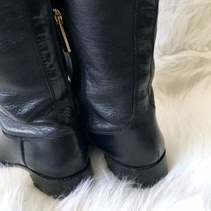 Louise et Cie Shoes - Louise Et Cie Black Leather Tall Luxury Boots 9.5
